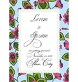 Colorful wedding invitation with torn paper banner vector image vector image