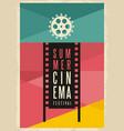 conceptual artistic poster design for summer cinem vector image vector image