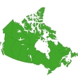 Green Canada map vector image