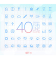 40 Trendy Thin Icons for web and mobile Set 4 vector image