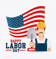 Labor day card design vector image
