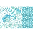 Seamless floral patterns set Vintage flowers vector image