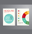 Business brochure flyer magazine cover design vector image