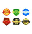 Colorful Clearance Discount Badges vector image