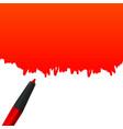 creative of highlighter pen vector image