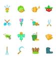 Garden icons set cartoon style vector image