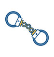 handcuffs icon image vector image
