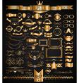 Mega Set of Vintage Golden Labels for your Hipster vector image