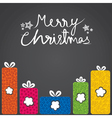merry christmas gift box with different shape vector image