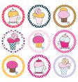 Cupcake tag set vector image