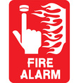 Fire Alarm Sign Icon vector image vector image