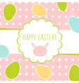 Easter greeting decorative postcard vector image vector image