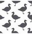 Farm bird silhouette seamless pattern Goose meat vector image