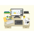 Interior design workspace vector image