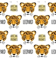Leopard face seamless pattern vector image