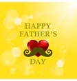 Fathers Day Banner on Yellow Summer Background vector image