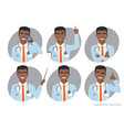 african american doctor with a stethoscope vector image