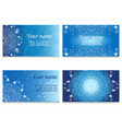 blue business card with a circular lace design vector image