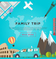 family road traveling concept vector image