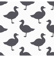 Farm bird silhouette seamless pattern Goose meat vector image