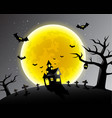 happy halloween scary night backgrounds vector image