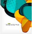 Round shapes abstract background vector image