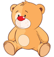stuffed toy bear cub cartoon vector image