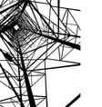 Abstract Electrical tower vector image vector image