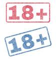 18 plus textile stamps vector image
