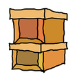 A pair of boxes vector image