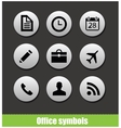 Web office circle pictogram symbols vector image