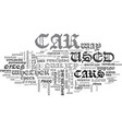 where to buy a used car text word cloud concept vector image