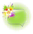 Glass Speech Bubbles With Plumeria vector image