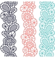 Seamless vintage fashion lace pattern with vector image vector image