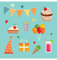 happy birthday party set vector image vector image
