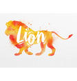 Painted animals lion vector image