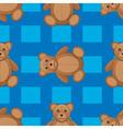 Cute teddy bear seamless pattern vector image