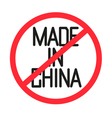 a forbidden made in china text vector image