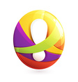 Abstract sphere logo vector image