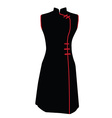 Black chinese dress vector image