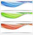 Bright wave lines red blue green headers vector image