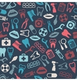 dental seamless pattern vector image
