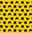 gentleman pattern with bowler hat cartoon style vector image