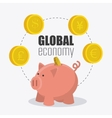 Global economy money and business vector image
