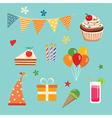 happy birthday party set vector image