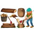 Lumber jack vector image