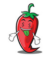Money mouth red chili character cartoon vector image