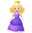 princess in purple dress vector image