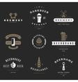 Vintage beer brewery logos emblems labels vector image