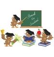 Set Owl teacher Back to School vector image